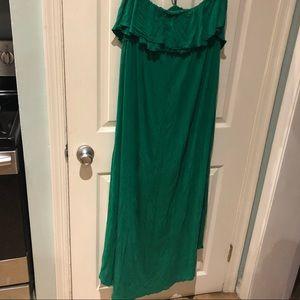 Dresses & Skirts - Strapless or halter maxi dress
